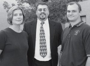 Band Directors From left, Jessica Short, assistant director and field commander instructor; Tim Booth, Archbold High School band director; Mike Short, assistant director and percussion instructor.