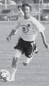 Jordan Klopfenstein brings the ball down the field for Pettisville.-        photo by Scott Schultz