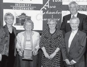 David, left, and Siebenmorgen, with three women from Hands of Grace. They are (not in order) Louise Belden, Nancy Beadle and Loretta Derringer.- photo     courtesy Royal Images