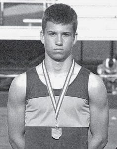 Danny Young won the state championhip in the 200 hurdles, at the junior high state track and field meet.- courtesy photo