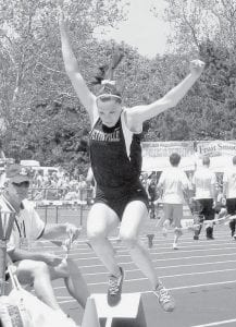 Haley Nofziger jumped her way to a second-place finish at the Division III state track and field meet.
