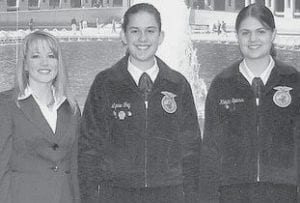 From left: Whitney Danker, WLC group leader, Lynae Fry, and Krista Spiess.-  courtesy photo