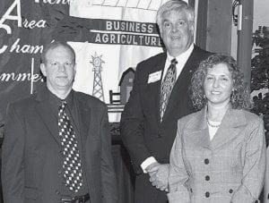 Siebenmorgen recognizes Joel and Sue Gerken, of the Archbold Dairy Queen, for 10 years.