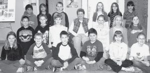 Mrs. Roth's Fourth Grade Class, Pettisville Front row, from left: Carlee Keller, Gabe Beck, Caleb Rychener, Riley Terry, Ava Hoops, Carlee Young. Middle row: Dakota Valdez, Gabe Spiess, Alayna Jones, Mrs. Roth, Teagan Kauffman, Shelby Weber, Lynnsey Crouch. Back row: Aaron Bontrager, Brayden Hernandez, John Rufenacht, Harper Nolander, Annie Weaver, Esmeralda Hernandez.