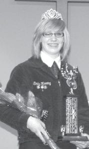 Emily Herring, daughter of Phil and Donielle, became the new Pettisville FFA Sweetheart.– courtesy photo