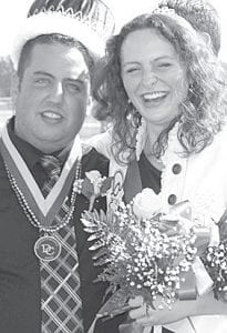 Treasure Bacon, AHS '07, was named 2010 Homecoming queen at Defiance College, Saturday, Oct. 9. She is the daughter of LuAnn, Archbold. She is a criminal justice major. With her is the Homecoming king, Andy White, Paulding.– courtesy photo
