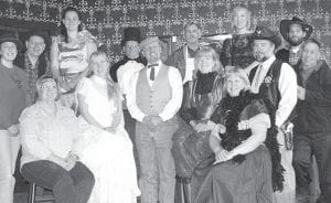 """The ACT cast is busy rehearsing for its production """"The Plight Before Christmas."""" First row, from left: Michelle Johnson, Myah Shaffer, Stan Short, Sue Short, Jan Delaney. Second row: Lindsay Rohrs, Phil Badenhop, Bethany Collins, John Taquino, Randy Rohrs, Kathryn Lillie, Jeff Patterson, Shawn Liechty, and Ed Mooney.– courtesy photo"""