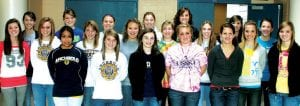 The 2010 AHS girls soccer team was named Ella Weaver, Brie Deskins, Alora Drewes, an All-Academic Team by the Northwest Megan Arend, Ashley Davis, Trisha King, Ohio Scholastic Soccer Coaches Association. Kassidy Garrow, Amanda Lovejoy. Third The average grade point average of the row: Mindy Rupp, Cassidy Wyse, Carley sophomores, juniors and seniors was 3.37; Wyse, Alicia Drewes, Hannah Leininger, a minimum 3.0 is required for recognition. Jesse Fidler, Megan Yoder. Not pictured: In addition, Trisha King and Ashley Davis Sierra Nofziger, Nichole Wood. The AHS received individual awards as senior varsity boys soccer team also was named an players who had grade point averages of NWOSSCA All-Academic team with a 3.3 3.7 or higher. Front row, from left: Blanca average gpa. Aaron Bontrager, Justin Allison, Calderon, Lauren Kindinger, Ashley Short, and T.J Weirauch were recognized Hanna Allison, Ellen Yoder. Second row: individually.– photo by David Pugh