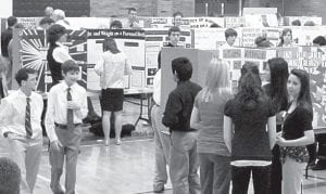 There were 101 entries in the 2011 Pettisville Local Science Fair, Saturday, Feb. 12, at Pettisville High School. This year's event included 10 projects entered by Anthony Wayne High School students.– photo by D. J. Neuenschwander