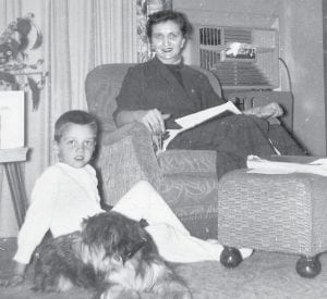 "Chris Rychener, 6, Pettisville, appears with his mother Thelma, in a photo taken in January 1956. He was one of several persons who shared stories about their mothers and some of their best advice. He said his mother told him she only remembered spanking him once. He replied, ""I probably didn't deserve that one, either."" Sunday is Mother's Day.– courtesy photo"