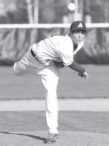 Michael Walker pitched in relief in Archbold's 4-1 victory over North Central, Thursday, March 29.– photo by Mary Huber