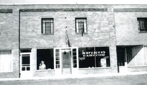 Nofziger's Dairy Store in the Lugbill Addition was a landmark business for many years. The business was owned by Jesse and his wife Kathryn Nofziger in the 1940s.– Antique photograph from the collection of Ruby Short, submitted by Sally Short Collamore