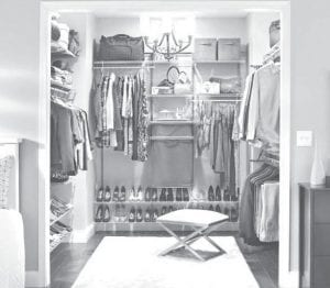 Designate specific areas inside the closet for each person.
