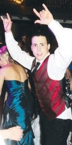 Nathanael Betz revels in the moment on the dance floor.