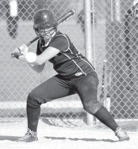 Ashlyn Bontrager had a double in Pettisville's 10-2 win over Stryker, Thursday, April 12.– photo by Mario Gomez