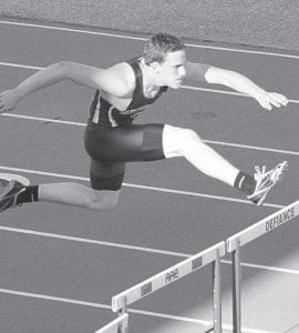 Archbold's Lincoln Parsley finished third in the 110-meter hurdles and fourth in the 300 hurdles at the Lamberson Invitational, Saturday, May 5.– photo by Donald Young