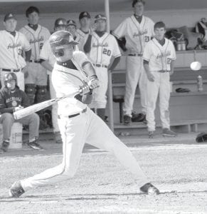 Dylan Wyse goes to bat for the Blue Streaks. Archbold opens tournament play today, Wednesday.– photo by Mario Gomez