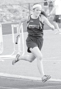 Pettisville's Mikala Avina was on the 4x800 and 4x400 relays at the Div. III regional track and field meet at Tiffin, Wednesday, May 23, and Friday, May 25. Both relays finished eighth.– photo by Jack Frey