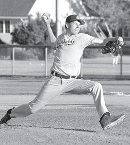 Zach Short delivers a pitch against Napoleon, Thursday, June 7.– photo by Mario Gomez