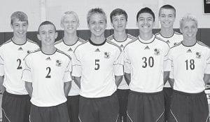The Archbold boys soccer team has eight letterwinners back. Front row, from left: Jacob Ott, Seth Yoder, Shae Hernandez, Alex Hurst. Back row: Ben Eggers, Brodie Nofziger, David Bontrager, Gavin Morton.– photo by Mary Huber