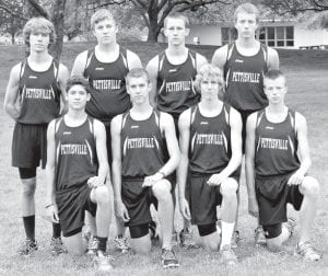 The PHS boys cross country team has eight letterwinners back. Front row, from left: Daniel Sauder, Tanner Rufenacht, Austin Dykstra, Tim Iott. Back row: Jacob Hauter, Chris Waidelich, Dominic Frey, Jeremy Mann.– photo courtesy A New Image Photography