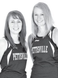 Taylor D'Alelio, left, and Amber Loar are the two returning letterwinners on the PHS girls cross country team.– photo courtesy A New Image Photography