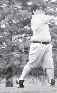 Pettisville's Greg Kempf tees off.– photo by David Pugh