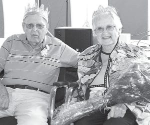 Donald and Shirley Black, Wauseon, are the 2012 Fulton County Fair Golden Wedding Party king and queen.– photo by Mary Huber