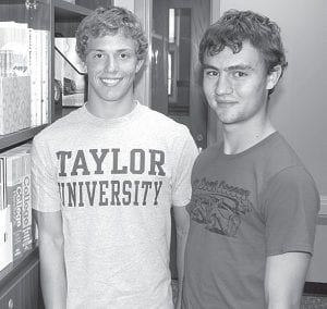 Pettisville High School seniors Alex Roth, left, and Matthew Storrer were named commended students by the National Merit Scholarship Corporation, based on the results of the PSAT/NMSQT test.– photo by David Pugh