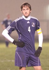 David Bontrager looks on in disbelief as the clock ticks down on Archbold's undefeated season.-photo by Mary Huber
