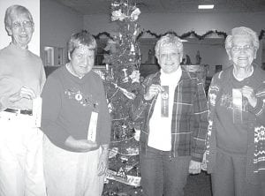 Winners of the Nov. 30 Anything Pumpkin Bake-Off at Fairlawn Haven Retirement Community are, from left: Margaret Hesterman, who tied for third place with her pumpkin pie; Sadie Roth, tied for third with her pumpkin cheesecake; Ethel Schmucker, second, with her fluffy pumpkin pie cheesecake; Grace Wyse, first, with her pumpkin ice cream dessert.– courtesy photo