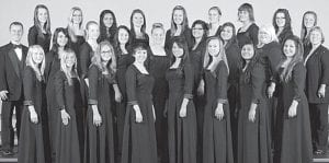 The Archbold High School womens chorus was one of three Archbold choirs to earn superior ratings in competition, Friday, March 8, at AHS. Also earning superiors were the mens chorus and the Chorale. Front row, from left: Brooke Hines, Carly Short, Cora King, Grace Garza, Oneida Calderon, Hannah Jerik, Rebecca Guillen, Angel Huerta. Second row: Kent W. Vandock, director; Brianna Mosgrove, Lindsey Roehrig, Sierra Lester, Emily Rose, Alyssa Montes, Ashley Jones, Tana Carroll, Lynne Christman, accompanist. Third row: Ellie Rupp, Bekah Eggers, Vivanna Garcia, Emily Short, Payton Robinson, Hannah Kern, Lydia Andres, Rebecca Addington, Madalyn Smith.– photo courtesy A New Image Photography