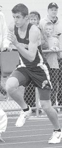 Devin Shannon was on the AHS boys 4x400 team that won at the Diller Invitational.– photo by Mario Gomez