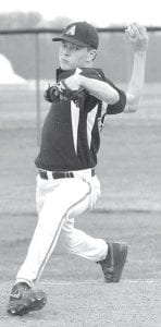Zach Short pitched for AHS in a suspended game with Stryker.– photo by Mario Gomez