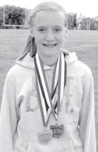 Alexa Leppelmeier, Pettisville, won a state title in the 1600.– courtesy photo