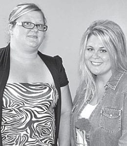 Misti Holifield and Brittany Croninger, from left.