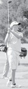 Matt Krill was low man for the Birds in a tri-match with Wauseon and Evergreen last week.– photo by David Pugh