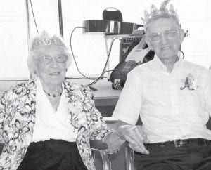 George and Marjorie Flack, Metamora, were named king and queen of the 56th annual Fulton County Fair Golden Wedding Party, Sunday, Aug. 31.– photo by Mary Huber