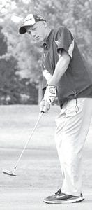 Brandon Miller shot an 84 last weekend at the Panther Invitational.–photo by Mario Gomez
