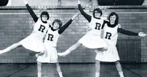 Ridgeville Falcon Reserve Cheerleaders in 1965/66 were, from left: Marcille Beck, Betty Von Deylen, Becky Miller and Linda Bostelman.– photo courtesy Archbold Schools