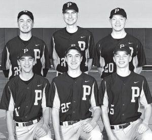 Letterwinners on the PHS baseball team are, front row from left: Justin Rupp, Dillon King, Landon Roth. Back row: Evan King, Christian Barhite, Nate Hartzler. Missing: Eli Norr, John Rufenacht.– photo courtesy A New Image Photography