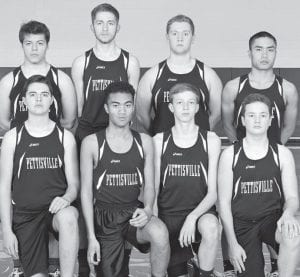 Letterwinners on the PHS boys track team are, front row from left: Owen King, Isaac Sauder, Jaret Rychener, Jake Myers. Back row: Seth Brakefield, Ben Gray, Clay Waidelich, Levi Nofziger. Missing: Nathan Siller.– photo courtesy A New Image Photography