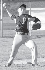 Austin Horning fields a grounder and throws to first base for an out against Wauseon.– photo by Mario Gomez