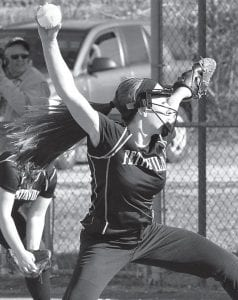 Kyra Behnfeldt delivers a pitch for the Birds.– photo by Mario Gomez