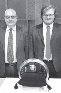 John Hartman, right, and his father Jim.– courtesy photo