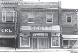 The Scott Theatre before the Feb. 23, 1972 fire.