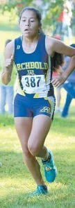Archbold's Brittany Ramirez placed ninth in the Girls Blue race.– photo by Beth Foor