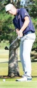 Brandon Miller, an AHS senior, was named NWOAL Golfer of the Year. Blue Streak coach Mike Rosebrook was named NWOAL Coach of the Year for the third straight year.– photo by Mario Gomez