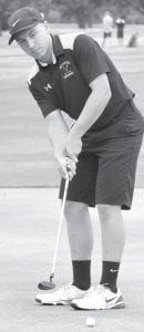 Austin Horning shot a 102 at the Div. III sectional tournament.– photo by Mario Gomez