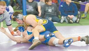 Gavin Grime was the highest Blue Streak to place at the Tri- State Border War Invitational last weekend. The Blue Streak senior finished third.– photo by Mario Gomez